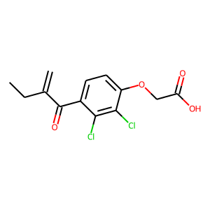 Ethacrynic acid structure rendering