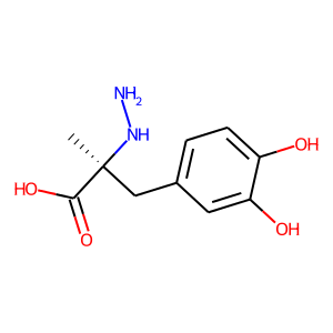 Carbidopa structure rendering