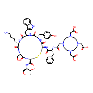 Edotreotide structure rendering