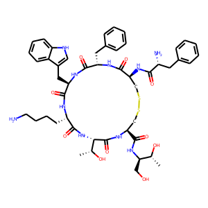 Octreotide structure rendering