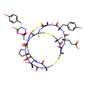 Linaclotide structure rendering