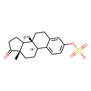 Oestrogens conjugated structure rendering