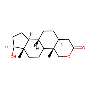 Oxandrolone structure rendering