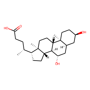 Ursodiol structure rendering