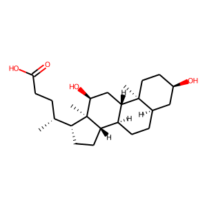 Deoxycholic acid structure rendering