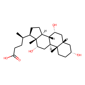 Cholic acid structure rendering