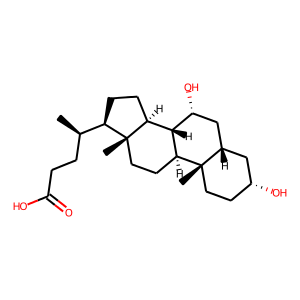 Chenodiol structure rendering