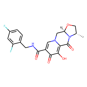 Cabotegravir structure rendering