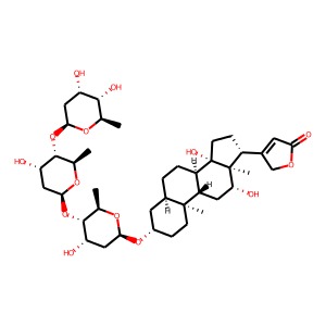 Digoxin structure rendering