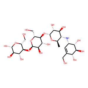 Acarbose structure rendering