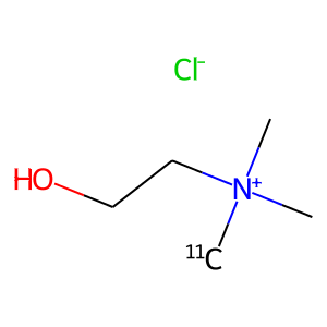 Choline c-11 structure rendering