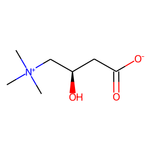 Levocarnitine structure rendering