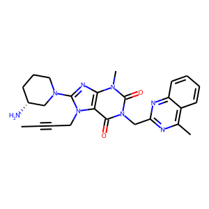 Linagliptin structure rendering