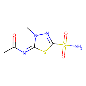 Methazolamide structure rendering