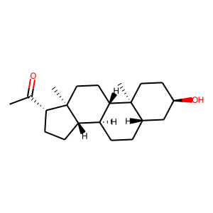 Brexanolone structure rendering