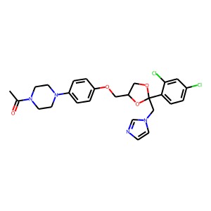 Ketoconazole structure rendering