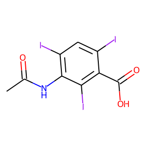 Acetrizoate structure rendering