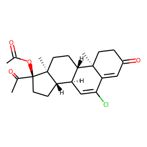 Chlormadinone acetate structure rendering