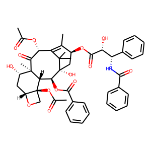 Paclitaxel structure rendering
