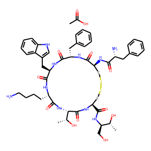 Octreotide acetate structure rendering
