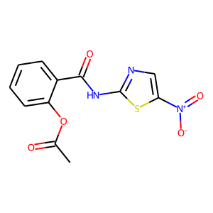 Nitazoxanide structure rendering