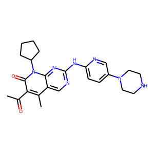 Palbociclib structure rendering
