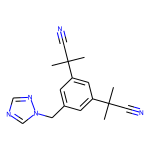 Anastrozole structure rendering