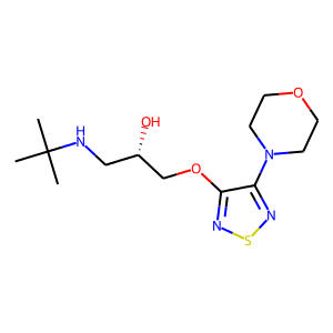 Timolol structure rendering