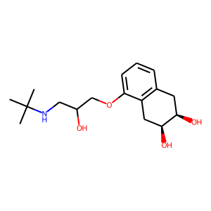 Nadolol structure rendering