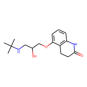 Carteolol structure rendering