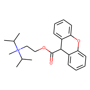 Propantheline structure rendering