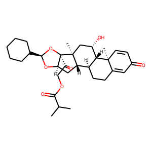 Ciclesonide structure rendering