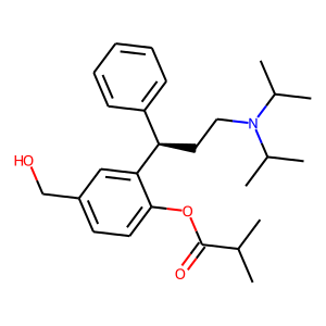 Fesoterodine structure rendering