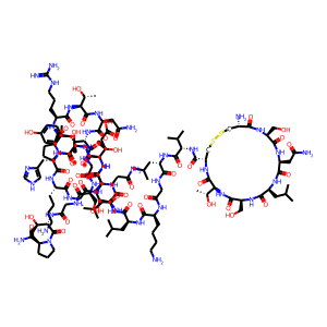Calcitonin salmon structure rendering