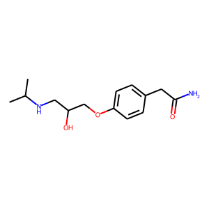 Atenolol structure rendering
