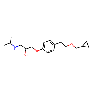 Betaxolol structure rendering