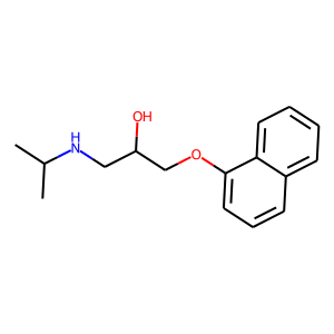 Propranolol structure rendering