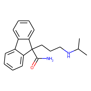Indecainide structure rendering