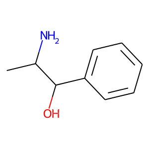 Phenylpropanolamine structure rendering