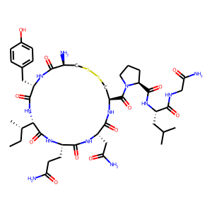 Oxytocin structure rendering