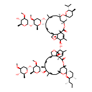 Ivermectin structure rendering