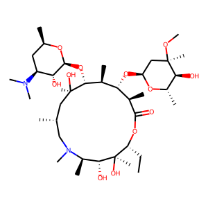 Azithromycin structure rendering