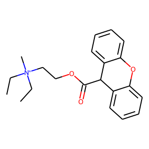 Methantheline structure rendering