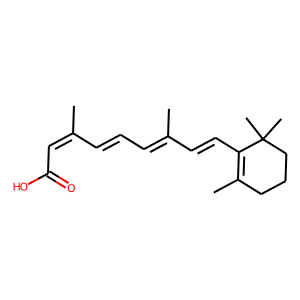 Isotretinoin structure rendering