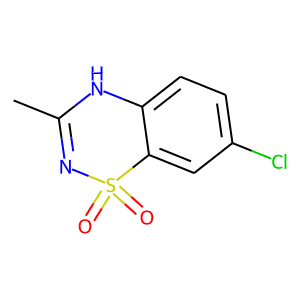 Diazoxide structure rendering
