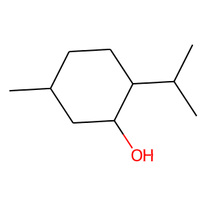 Menthol structure rendering