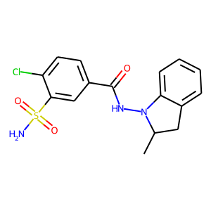 Indapamide structure rendering