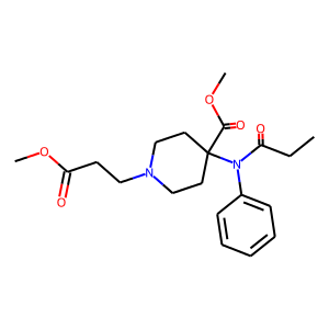 Remifentanil structure rendering