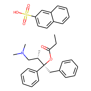 Levopropoxyphene napsylate anhydrous structure rendering