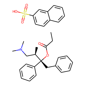 Propoxyphene napsylate structure rendering